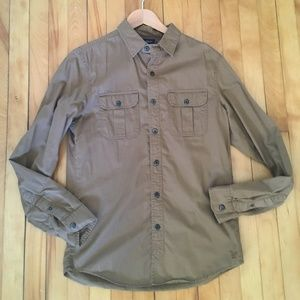 American Eagle Outfitters Shirts - American Eagle Outfitters Men's Tan Shirt Small
